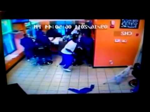 PITBULL ATTACK IN A BARBERSHOP