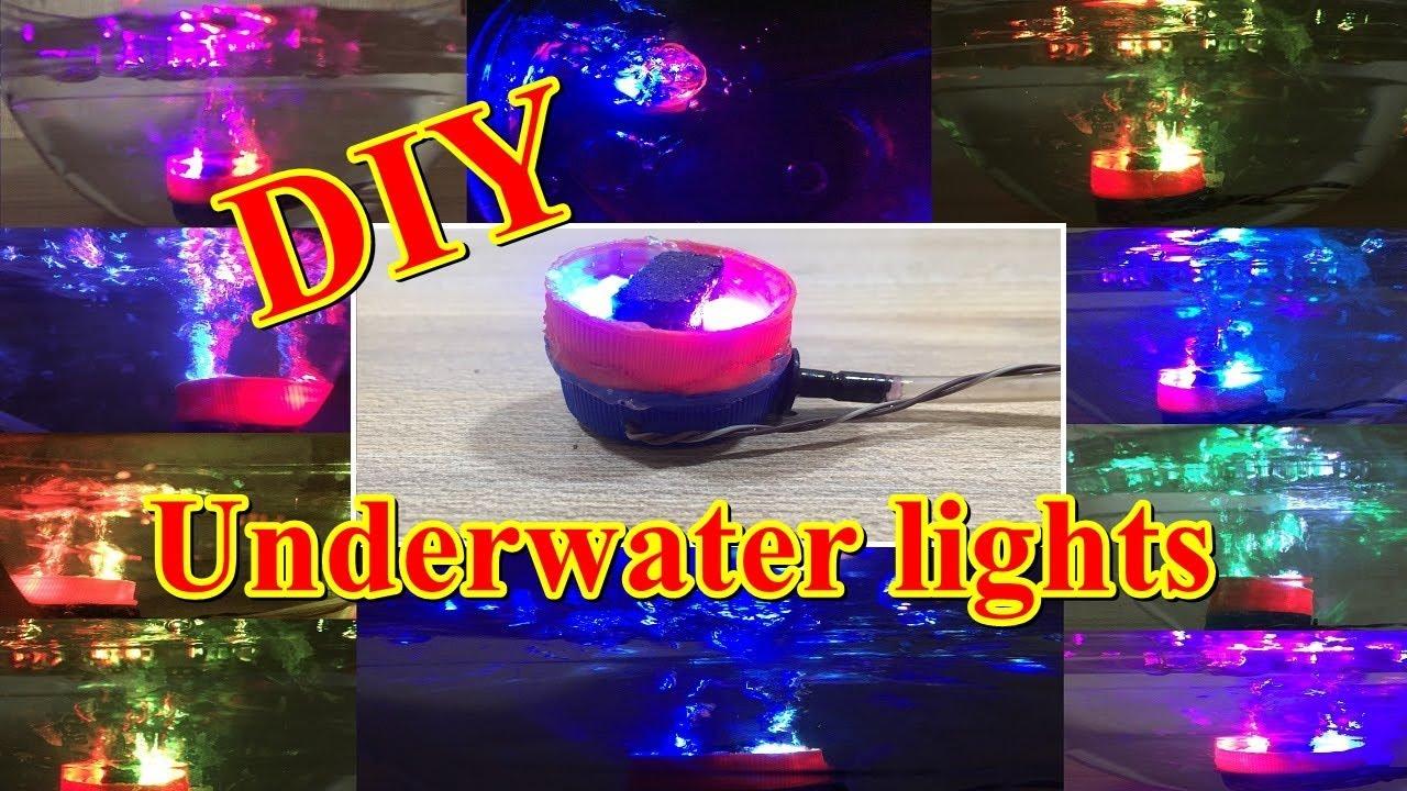 how to make multi color air bubble aquarium light diy underwater
