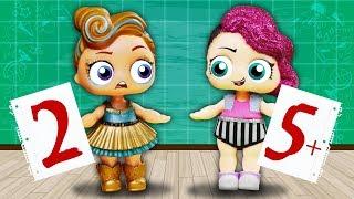 НЕ ДАЛА СПИСАТЬ! Видео с куклами лол сюрприз в школе