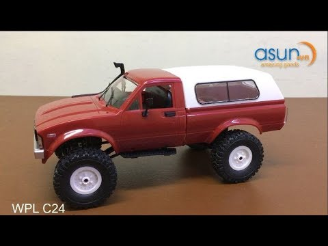 Xe Jeep Bán Tải Điều Khiển Từ Xa WPL C24 4WD Mẫu 2018 - Asun.vn