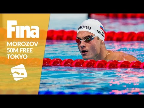 Morozov smashes the 50m Freestyle field #8 Tokyo