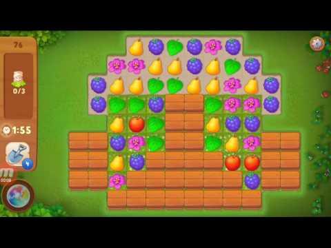 Как пройти 76 уровень в игре gardenscapes