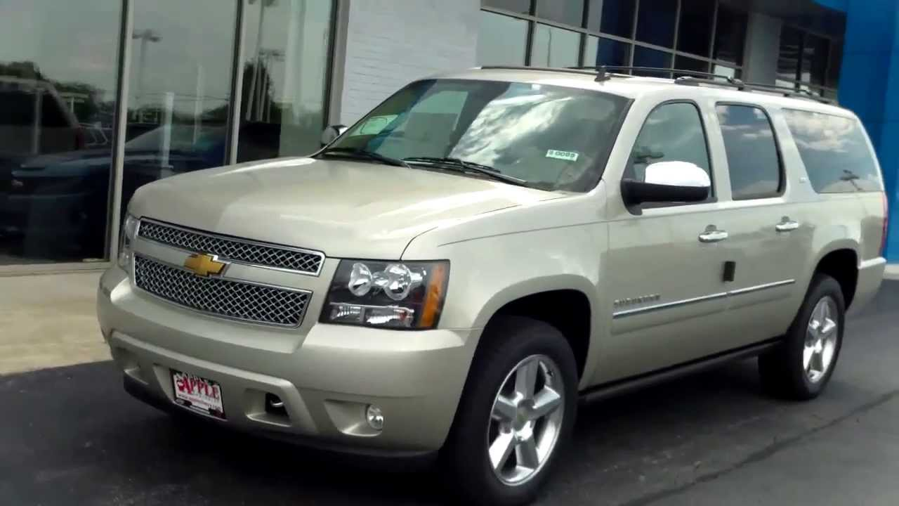 2014 Chevy Suburban 4WD 1/2 Ton LTZ at Apple Chevrolet in Ti - YouTube