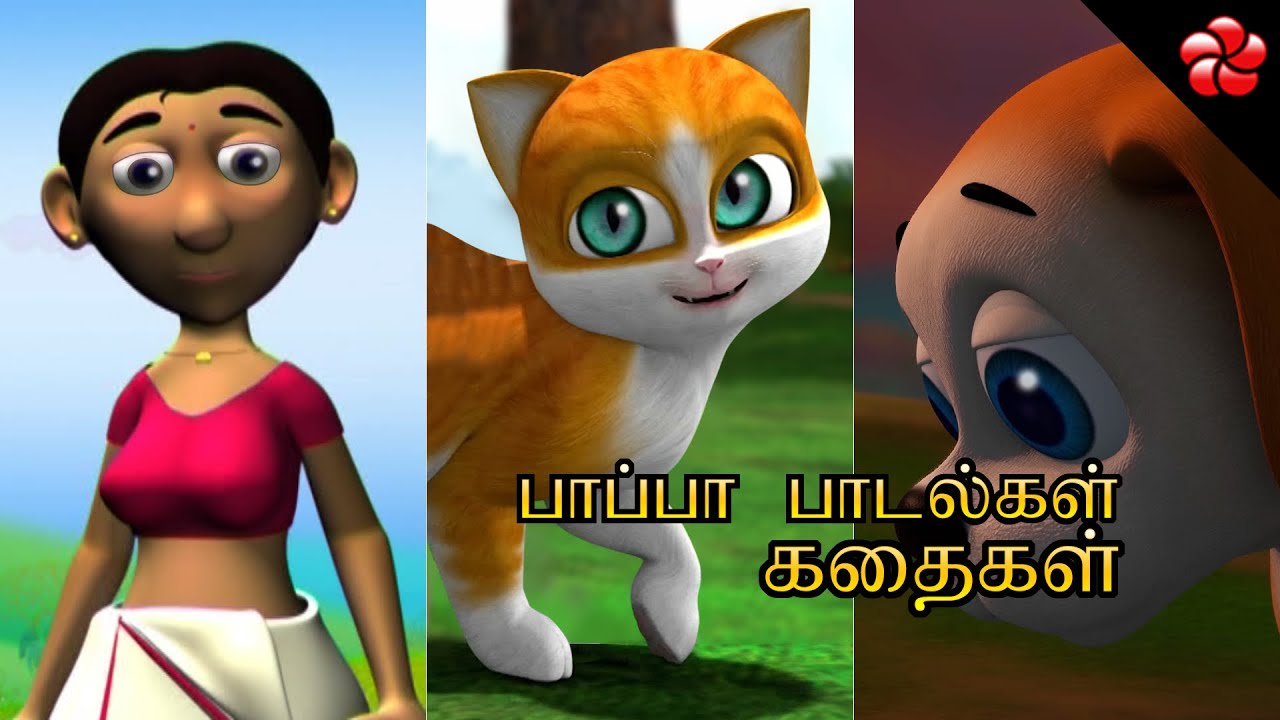 Monkey cartoon story and counting nursery rhymes ★ Tamil moral stories and baby songs for children
