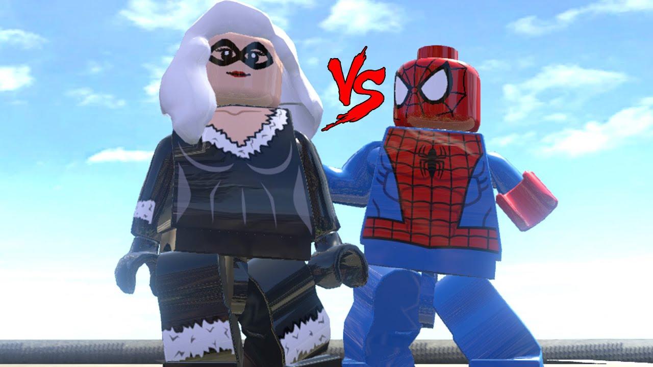 BLACK CAT VS SPIDER-MAN - EPIC BATTLE (LEGO MARVEL Super ...