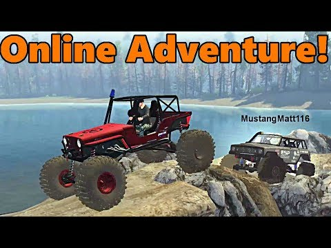 Spin Tires Multiplayer | TC and MustangMatt | WE FOUND A LAND BRIDGE!! Matt Pushed me in the water!!