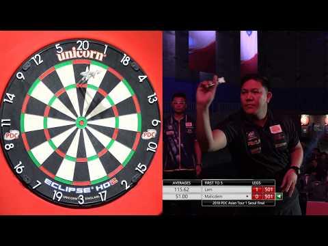 Lam Ting Chi Royden VS Malicdem 9DARTS 2018 PDC ASIAN TOUR 1 Final 4K