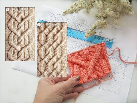 Схема вязания араны спицами