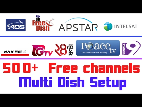 Four Satellite Channels In One Receiver | 500+ FTA Channels | FreeDish MPEG4 Receiver