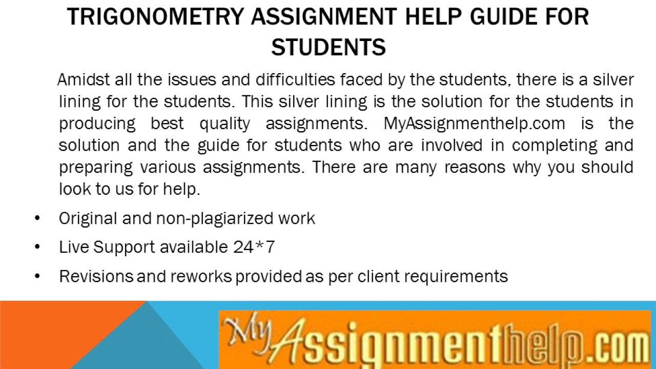online trigonometry assignment help online trigonometry assignment help