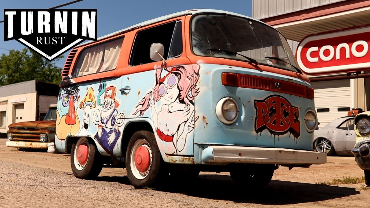 1975 Shorty VW Hippie Bus Revival, Will It Run? | Turnin Rust