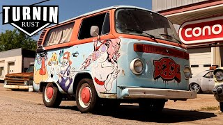 1975 Shorty VW Hippie Bus Revival, Will It Run? | Turnin Rust