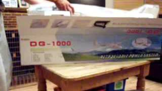 Rc DG 1000 ep Glider with retractable motor, out of the box