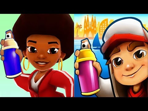 Subway Surfers Barcelona FRIZZY vs 3D FRIZZY Subway Jungle Dash Gameplay HD from YouTube · Duration:  16 minutes 10 seconds