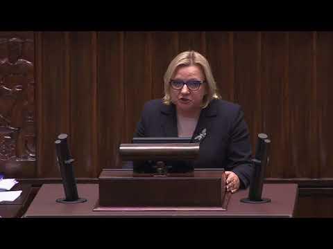 Kempa w sejmie o podpaleniu jej biura poselskiego 14.12.2017