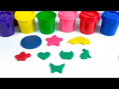 Learn Colors Nursery Rhymes Kid Color Song Play Doh Shape - CoCoVollToys
