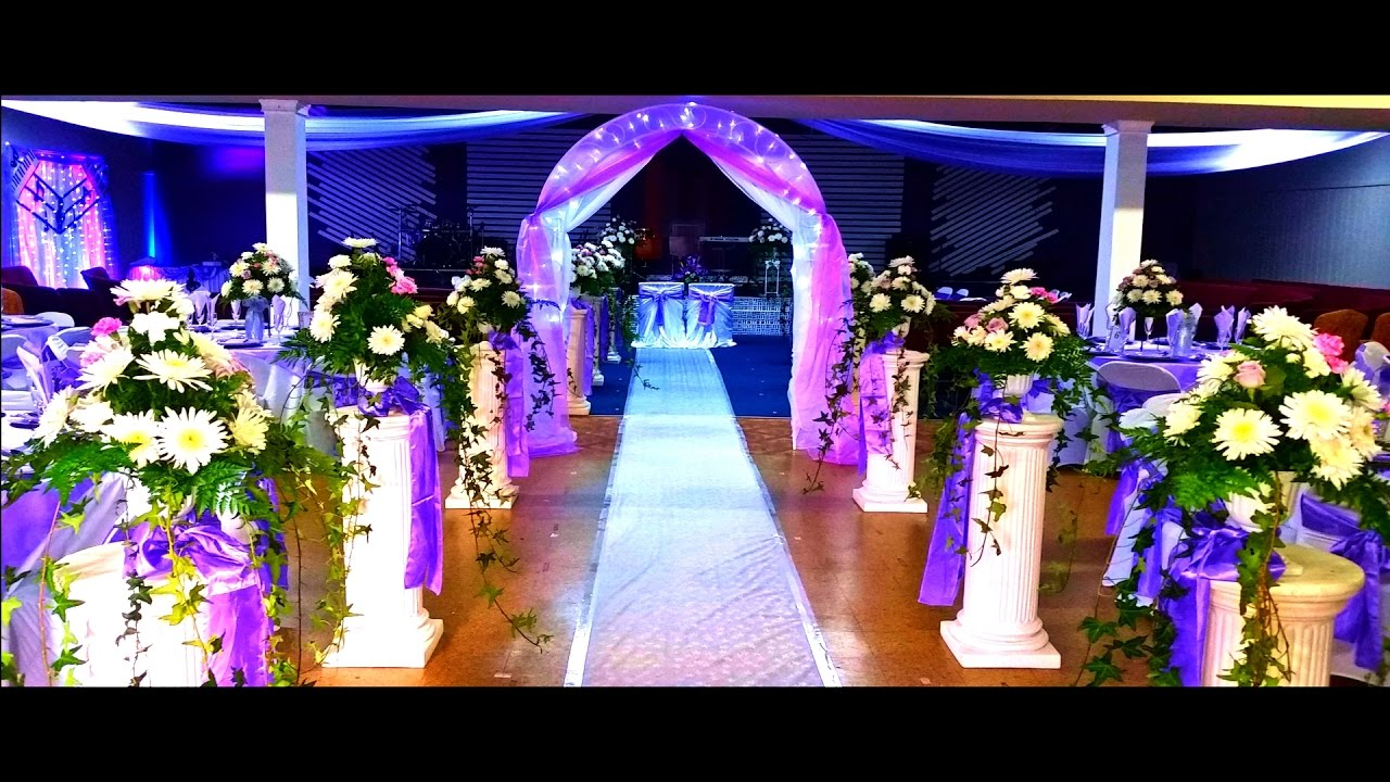 Decoracion de boda con flores naturales youtube for Adornos con plantas de nochebuena