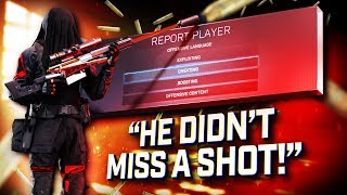 I got reported for aimbot because we won this match...(Warzone)