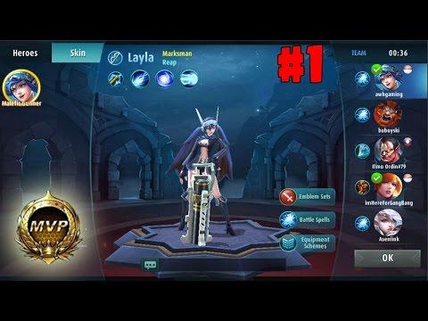 (Gameplay) Mobile Legend : Bang Bang #1 | Play Layla (MVP)