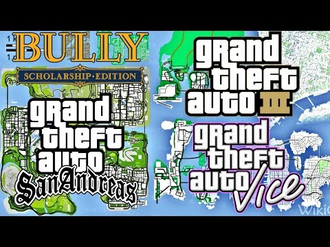All Grand Theft Auto Maps Combined in GTA SA | GTA