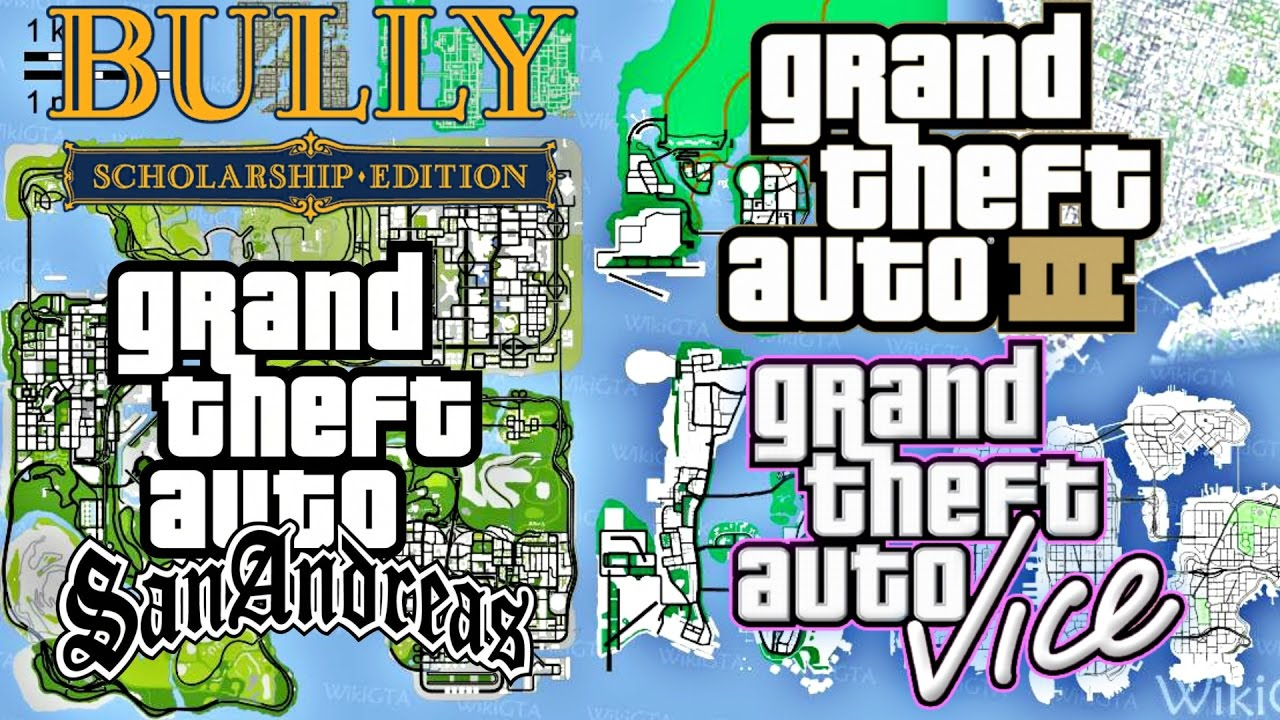 Subway Map Gta V.All Grand Theft Auto Maps Combined In Gta Sa Gta Underground Mod Gameplay San Andreas