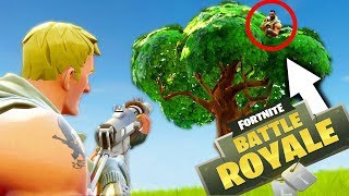 HIDING IN TREES TO GET THE WIN! - Fortnite: Battle Royale Squads[#3]