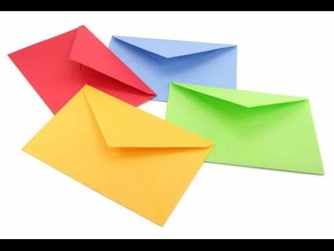 HOW TO MAKE AN ENVELOPE!!!! SUPER EASY!! - YouTube