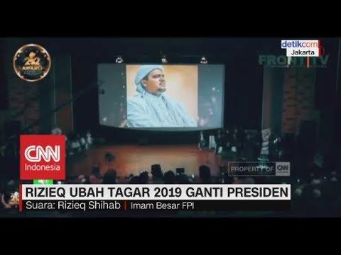 Rizieq Syihab Suarakan Ubah Tagar 2019 Jadi Prabowo Presiden
