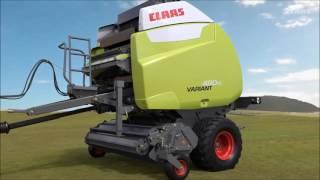 Prasa Claas Variant 480 RC - Jak to działa?