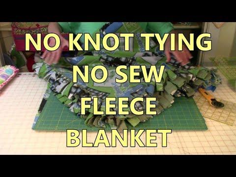 No Knot Tying No Sew Fleece Blanket
