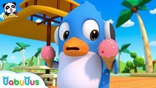 Rudolph's Ice Cream is Melting | Baby Panda Popsicle Maker | Kids Pretending Play | BabyBus