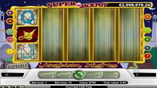 Repeat youtube video Free Arabian Nights Slot by NetEnt Video Preview | HEX
