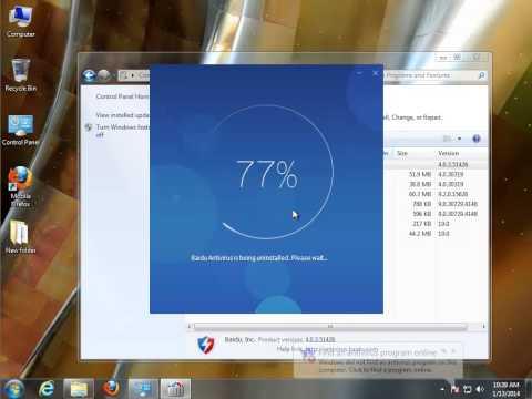 How to Uninstall Baidu Antivirus 2014