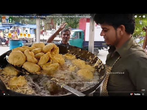 Bajji & Masala Chat Street Food In Mumbai - Marine Drive | Amazing Snacks Recipes In Indian