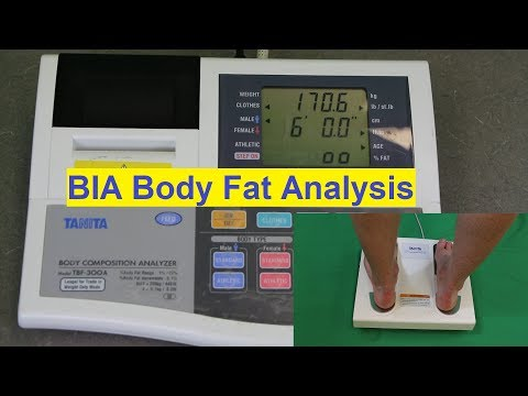 Body Fat Percentage - Bioelectrical Impedance Analysis - BIA