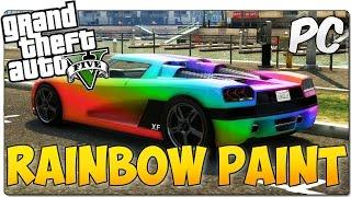 RAINBOW VEHICLE PAINT MOD GTA 5 PC | Pintura de arcoiris | GTA V MOD SHOWCASE ESPAÑOL