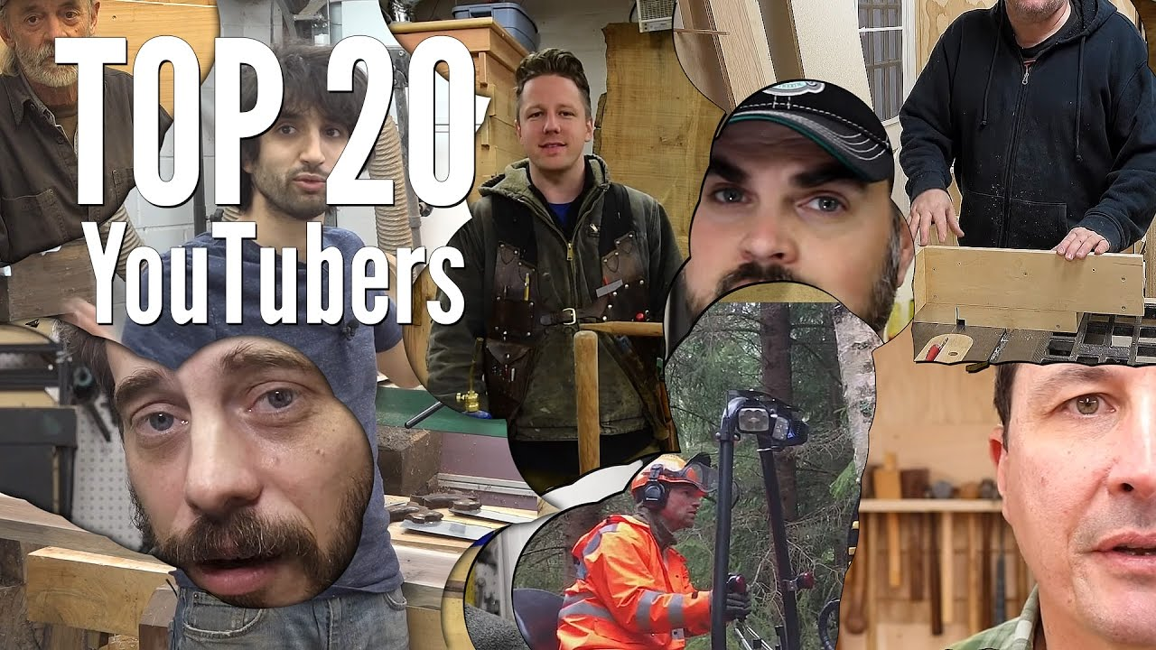 Top 20 Youtube Channels For Makers And Woodworkers Youtube