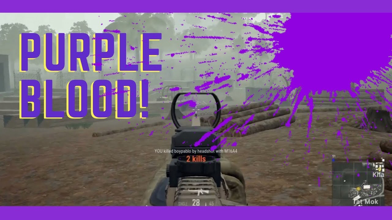 PUBG PURPLE BLOOD! (NEW COLOR BLIND MODE & CUSTOM CROSSHAIR)