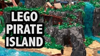 Custom LEGO Pirate Island   BrickCon 2016