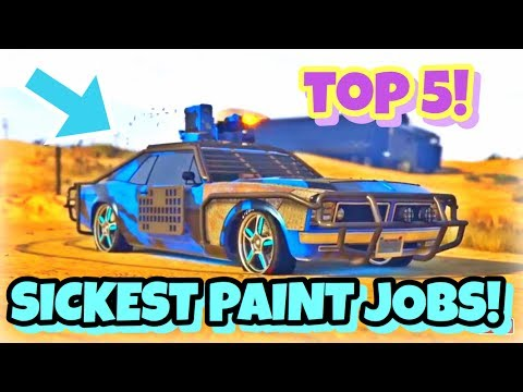 TOP 5 AWESOME PAINT JOBS FOR THE NEW  WEAPONIZED TAMPA! { CINEMATIC} ( GTA 5 ONLINE GUNRUNNING DLC )