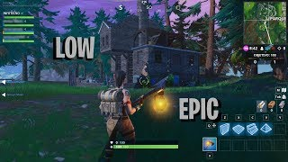 AMD Ryzen 3 2200g | Fortnite | Gameplay | Video Test Low to Epic