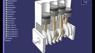 Modélisation et animation d'un 4 cylindres