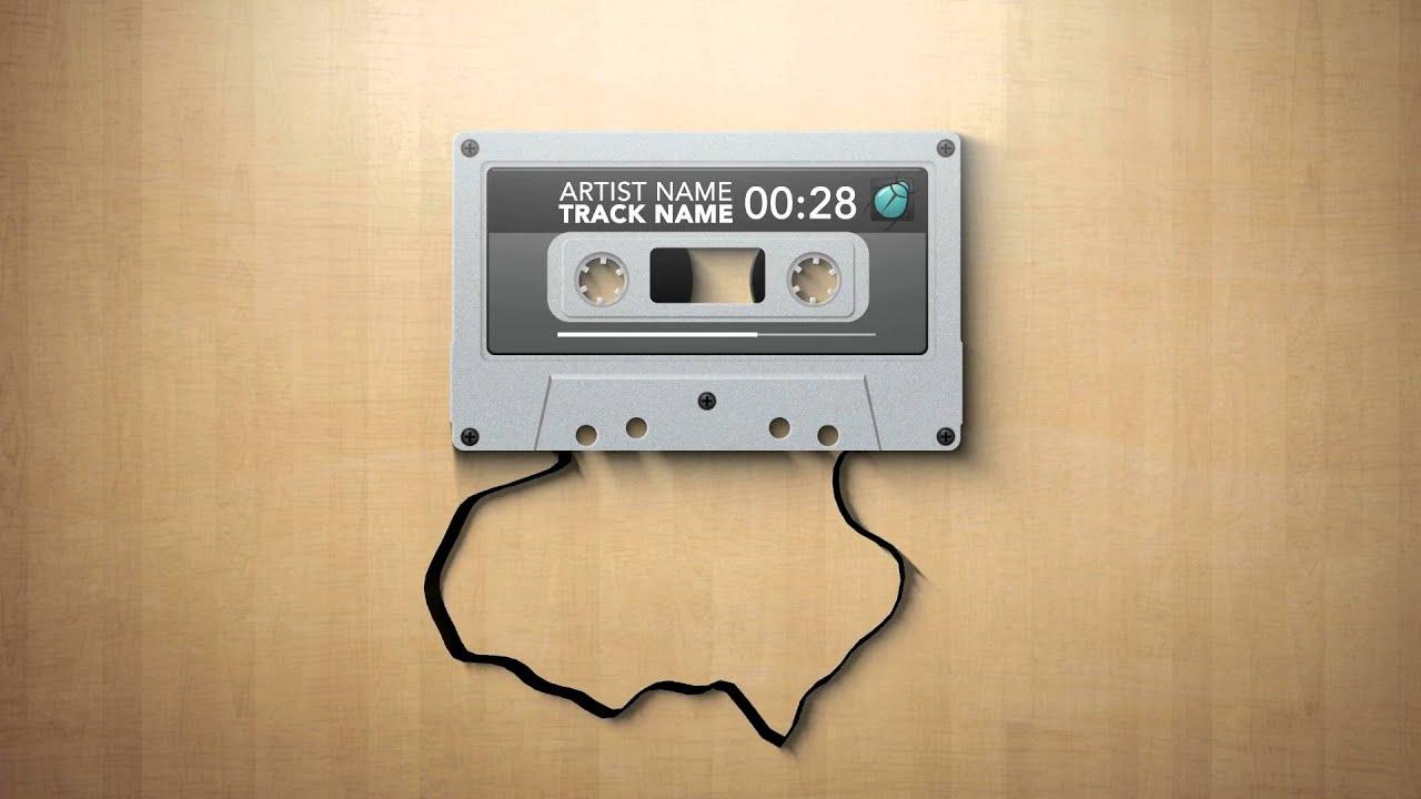 cassette music visualizer download after effects template youtube. Black Bedroom Furniture Sets. Home Design Ideas