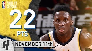 Victor Oladipo Full Highlights Pacers vs Rockets 2018.11.11 - 22 Pts, 7 Ast, 10 Reb!