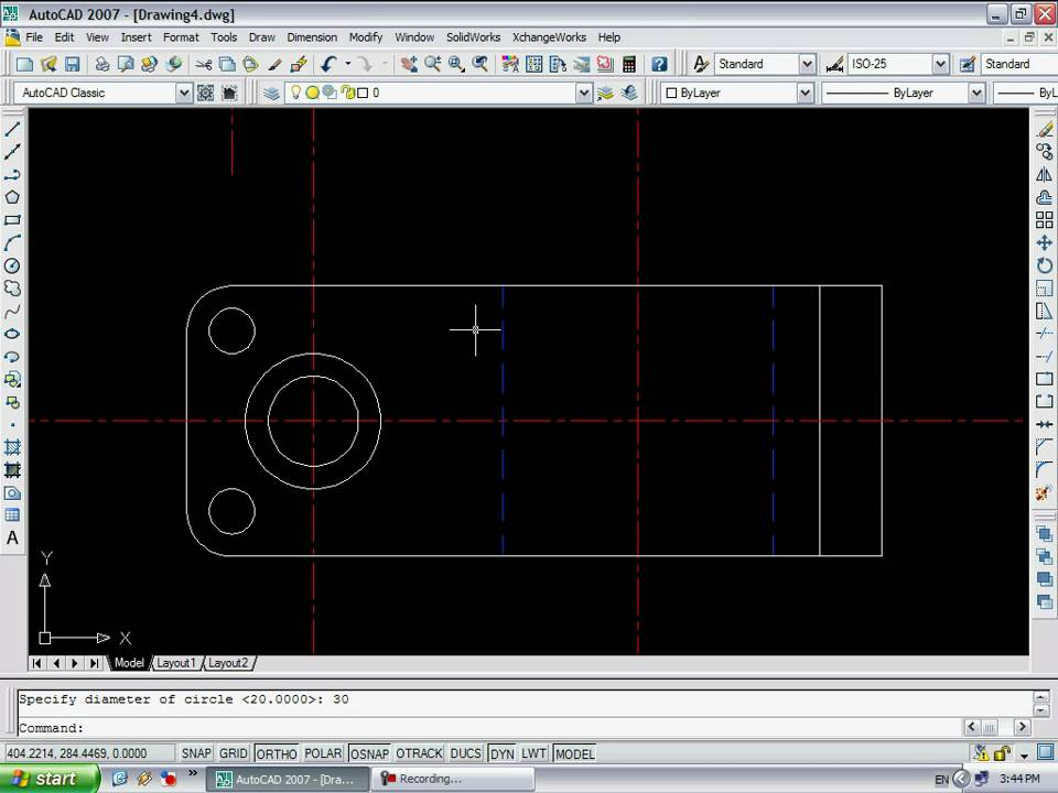Autocad 2007 draw 2d _ top view youtube.