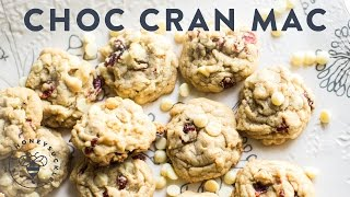 White Chocolate Chip Cranberry Macadamia Cookies - Honeysucklecatering