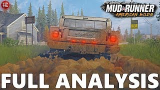 SpinTires MudRunner: AMERICAN WILDS FIRST GAMEPLAY!! Full Trailer Analysis