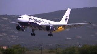 [HD 720p] MONARCH Airbus A300B4-605R G-OJMR LANDING MAJORCA SON SAN JOAN