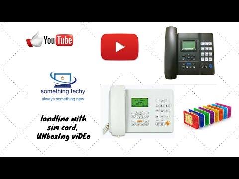 unboxing HUAWEI F501 GSM LANDLINE PHONE