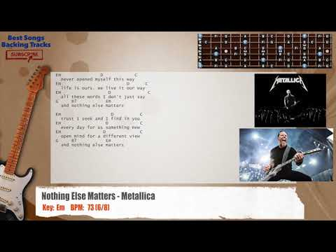 Nothing Else Matters - Metallica Guitar Backing Track with chords and lyrics